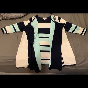 Cardigan with Drape Front